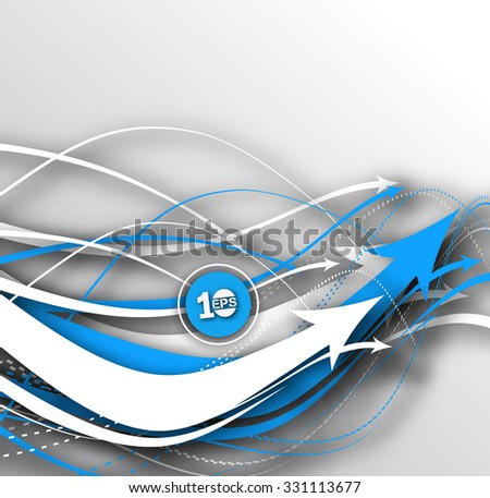 Abstract Arrow background element vector design. - stock vector