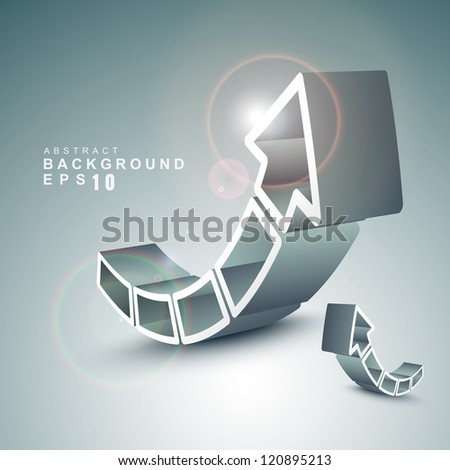 Abstract arrow background. EPS 10. - stock vector