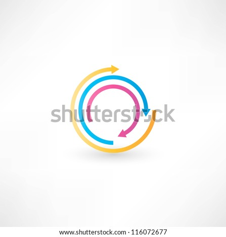 Abstract arrow icon - stock vector
