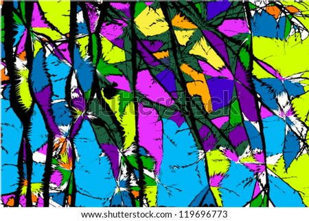 abstract art background colorful - stock vector