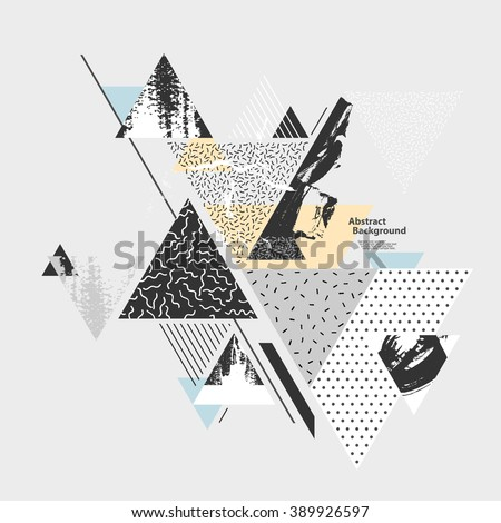 Abstract art  background with geometric elements - stock vector