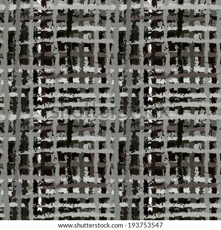 Abstract art grunge seamless pattern. Graffiti. Paint stains. Spray. Stripes. Watercolor. Black, gray, grayscale, monochrome texture. Camouflage  fabric swatch - vector  - stock vector