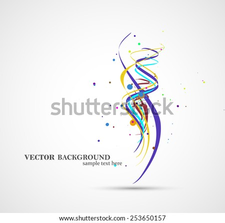 Abstract art illustration, colorful digital composition - stock vector