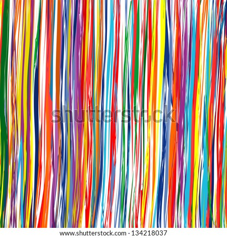 Abstract art rainbow curved lines colorful background 7 - stock vector