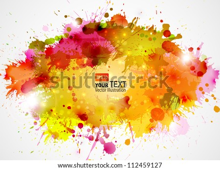 Abstract artistic Background of autumn colors - stock vector