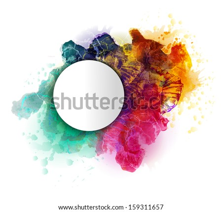 Abstract artistic background. Vector, EPS 10 - stock vector