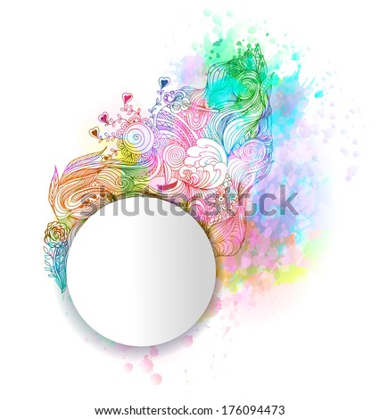 Abstract artistic background. Vector, EPS 10. - stock vector