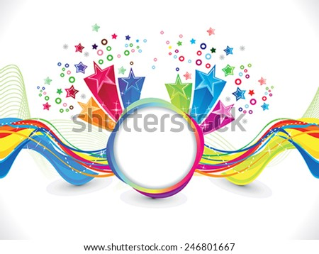 abstract artistic colorful wave background vector illustration - stock vector