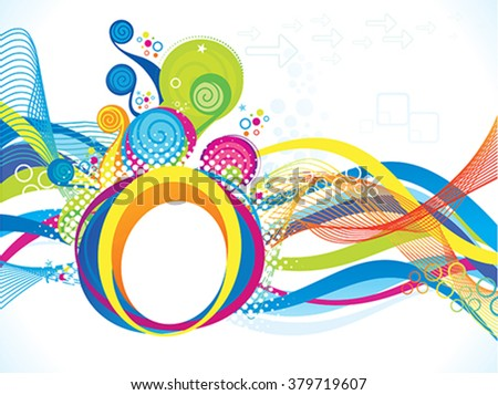 abstract artistic colorful wave explode vector illustration - stock vector