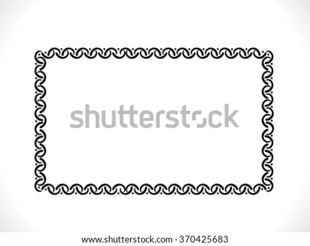 abstract artistic detailed border vector illustration - stock vector