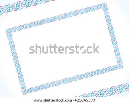 abstract artistic detailed border vector illustration - stock vector
