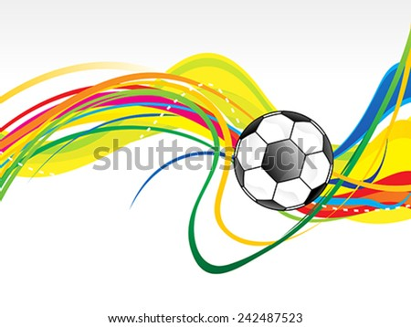 abstract artistic football wave background vector illustration - stock vector