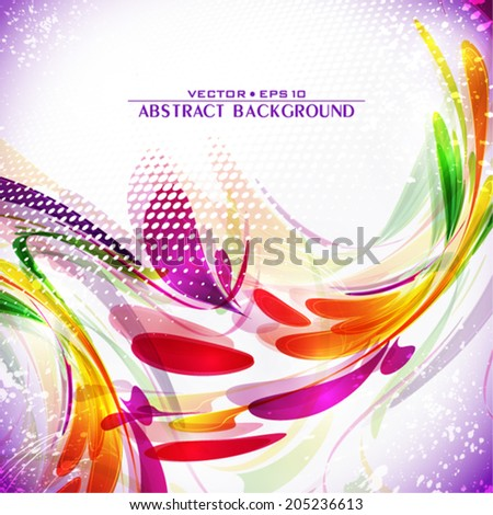 Abstract artistic invitation for bright party. Vector - stock vector