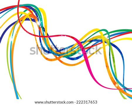 abstract artistic line wave background vector illustration - stock vector