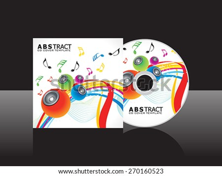 abstract artistic musical cd cover template vector illustration - stock vector