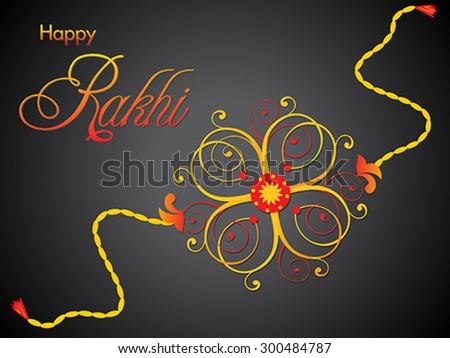 abstract artistic raksha bandhan rakhi vector illustration - stock vector