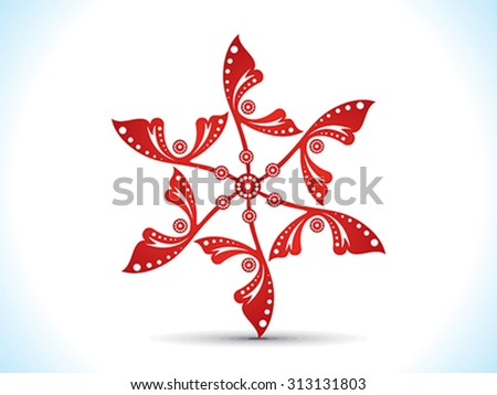 abstract artistic red floral vector illustration - stock vector