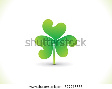 abstract artistic st patrick clover vector illustration - stock vector