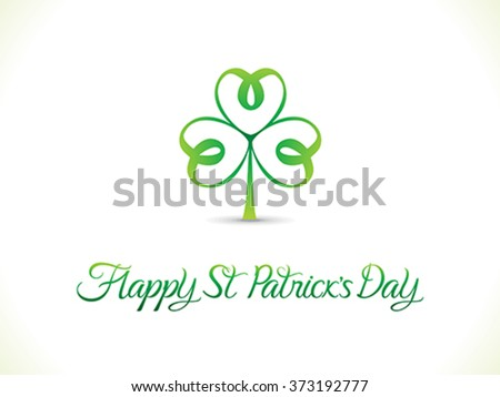 abstract artistic st patrick day clover vector illustration - stock vector
