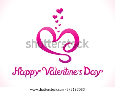 abstract artistic valentine day background vector illustration - stock vector