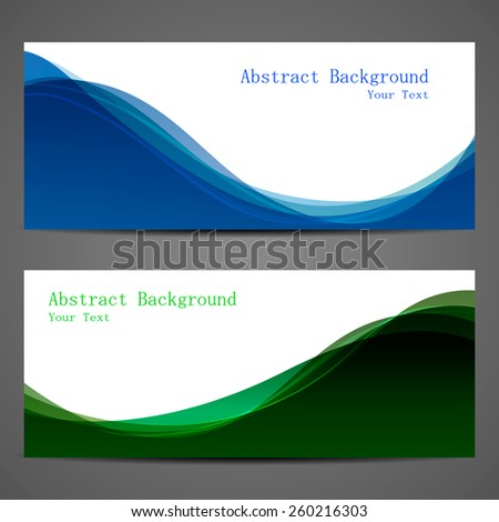 Abstract background beautiful blue and green wave - stock vector