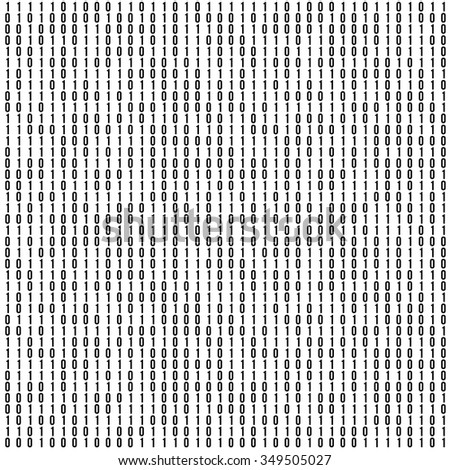 Abstract  Background. Binary Computer Code. Coding and Hacker concept. Vector Tech Background Illustration. - stock vector