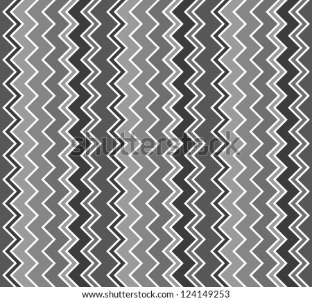 Abstract background. Black and white chevron pattern. Vertical zig zag. Vector illustration - stock vector
