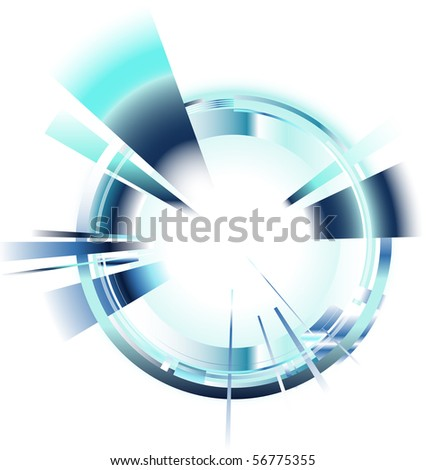 abstract background blue - stock vector