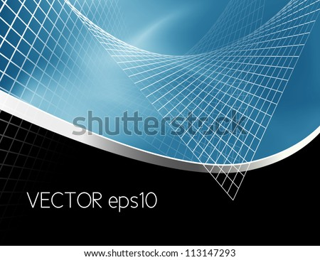 Abstract background blue black - stock vector