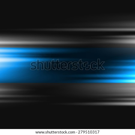 Abstract background blue blurred light. For website design - stock vector