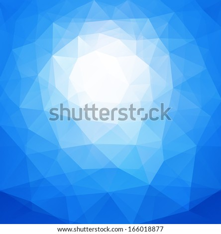 Abstract background blue, sunny vector design. - stock vector