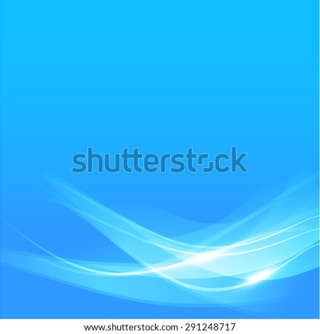 Abstract background blue wave curve and lighting element vector illustration eps10 - stock vector