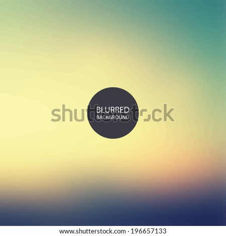 Abstract Background - Blurred Image - Sunset in Chicago - stock vector
