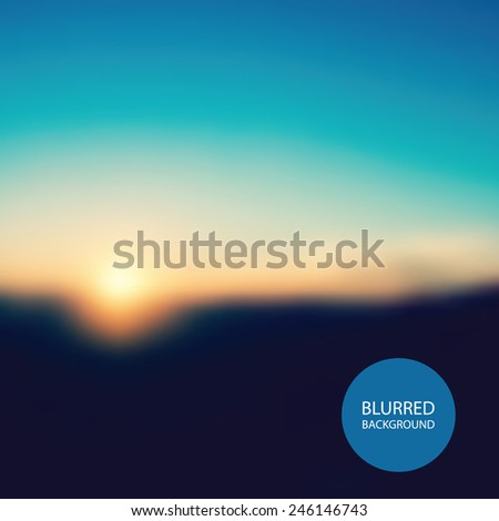 Abstract Background - Blurred Image - Sunset in Tucson - stock vector
