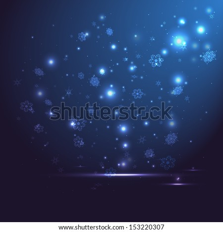 Abstract background. Christmas night. Vector illustration. - stock vector