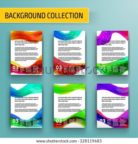 Abstract background collection for business artwork. Vector Illustration, Graphic Design Editable For Your Design. - stock vector