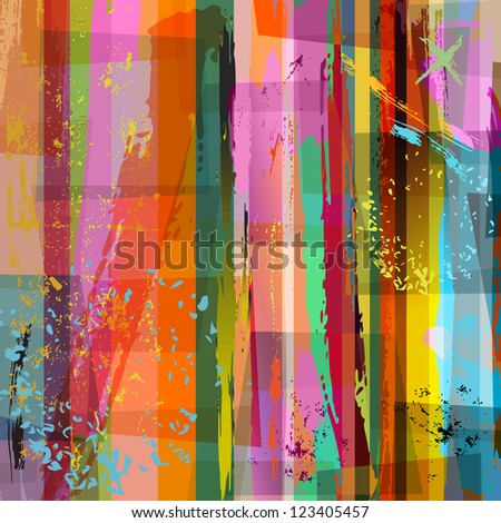 abstract background composition, with strokes and splashes, halftone - stock vector