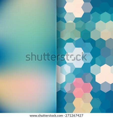 abstract background consisting of hexagons - stock vector