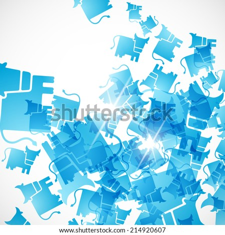 abstract background: cow - stock vector