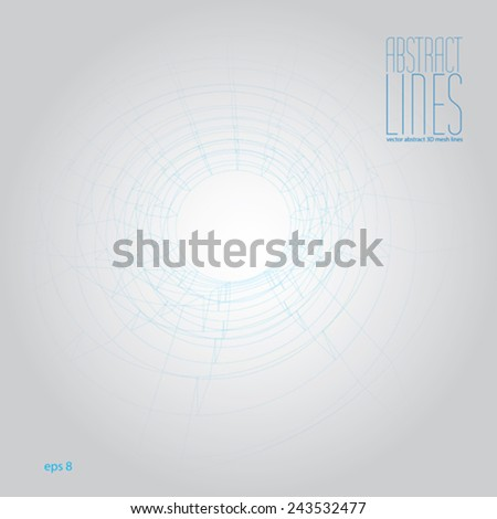 Abstract background, 3D abstract lines vector illustration, communication and digital technology abstract background, clear eps 8 vector. - stock vector