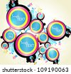 Abstract background  design bubble - stock vector