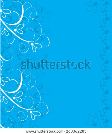 abstract background design with flowers - stock vector