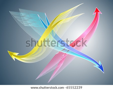 Abstract background, dynamical change concept - stock vector