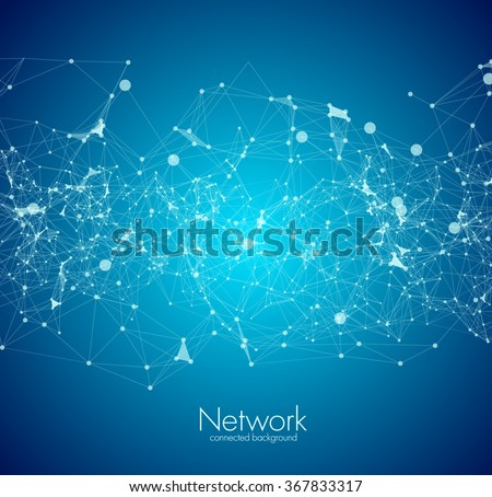 Abstract background for design technology and networking science - stock vector