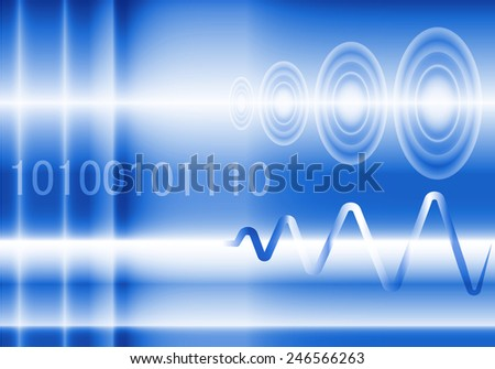 Abstract background for digital , analog and wave - stock vector