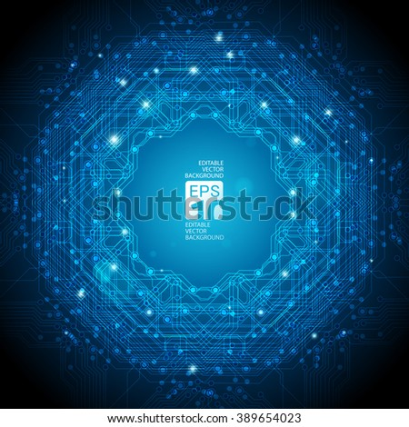 abstract background for futuristic high tech design - stock vector