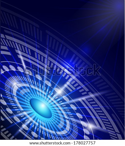 Abstract background for futuristic technology design .vector file. - stock vector