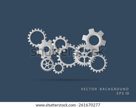 Abstract background. Gear wheels. Vector EPS 10 - stock vector