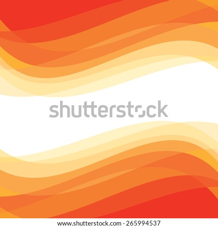 Abstract background - geometric vector pattern. Abstract orange waves.  - stock vector