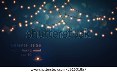 Abstract background. Glowing light bulbs design - stock vector